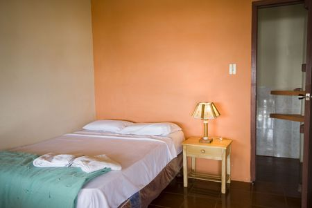 native hotel room on the ruta del sol route of the sun in montanita ecuador south america