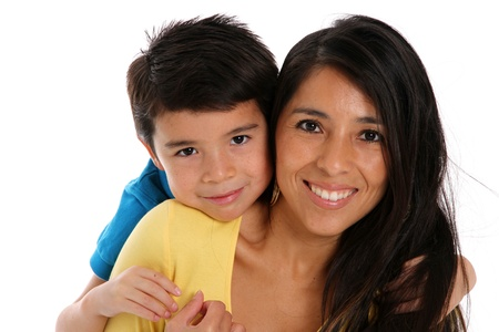 Photo for woman and son set on a white background - Royalty Free Image