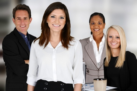 Foto de Business Team of Mixed Races at Office - Imagen libre de derechos