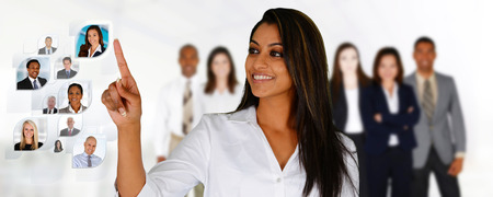 Foto de Businesswoman selecting members of her business team - Imagen libre de derechos