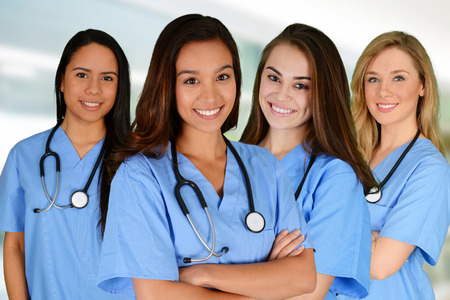 Photo for Group of nurses set in a hospital - Royalty Free Image