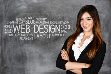 Foto de Young woman who works as a web designer - Imagen libre de derechos