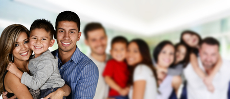 Foto de Happy young families together in a group - Imagen libre de derechos