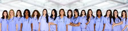 Foto de Large group of nurses together in the hospital - Imagen libre de derechos