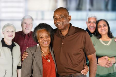 Foto de Group of elderly couples of all races - Imagen libre de derechos