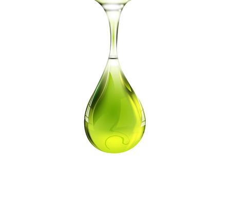 Ilustración de Olive oil drop - Imagen libre de derechos