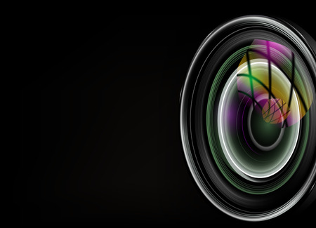 Illustration pour illustration of colorful camera - image libre de droit