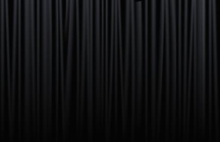 Illustrazione per Black curtain from the theatre with - Immagini Royalty Free
