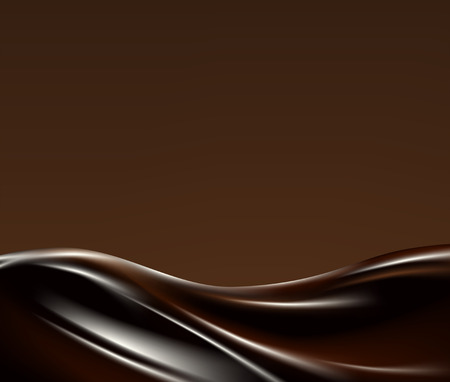 Ilustración de Dark liquid chocolate wave on broun background - Imagen libre de derechos
