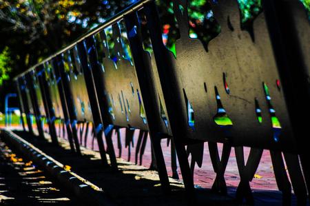 Photo pour The iron bench - image libre de droit