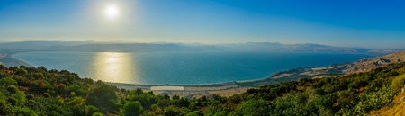 Foto de Panoramic view of the Sea of Galilee (the Kinneret lake), from the east, Northern Israel - Imagen libre de derechos