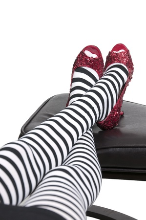 Photo for High heel stileto ruby shoes or slippers - Royalty Free Image