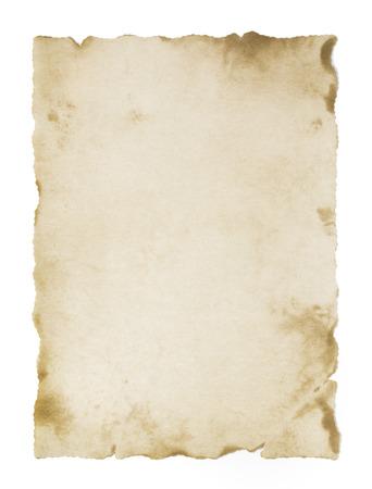 Photo pour old blank parchment isolated - image libre de droit