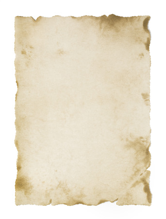 Foto de old blank parchment isolated - Imagen libre de derechos
