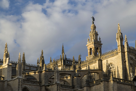 Foto per Seville cathedral Giralda tower of Seville Andalusia Spain - Immagine Royalty Free