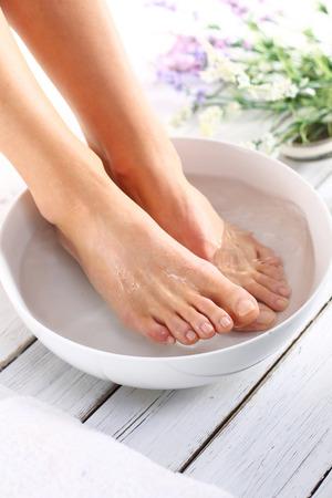 Foto de Therapeutic foot bath - Imagen libre de derechos