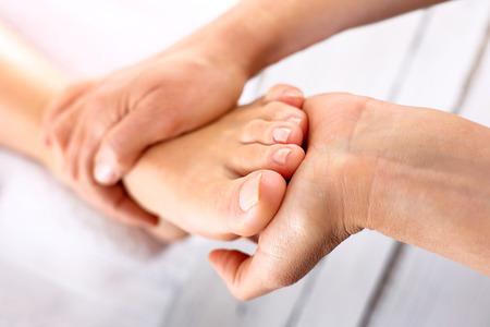 Foto de Rehabilitation foot massage - Imagen libre de derechos