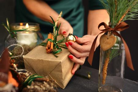 Foto de Florist, green Christmas decoration - Imagen libre de derechos