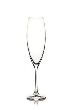 Photo for Empty champagne glass on white - Royalty Free Image