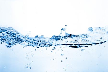 Foto de Water and air bubbles over white  - Imagen libre de derechos