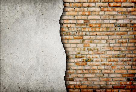 Foto de old cracked brick wall background - Imagen libre de derechos