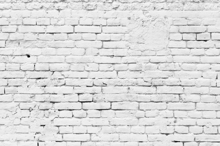 Photo pour Old grunge brick white wall background - image libre de droit