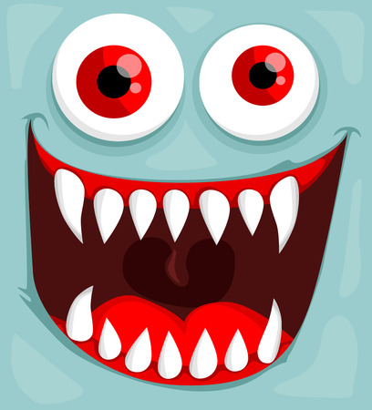 Illustration pour Cute monster face - image libre de droit