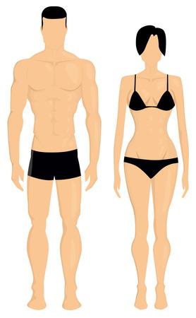 Illustration pour Man and woman body illustration - image libre de droit