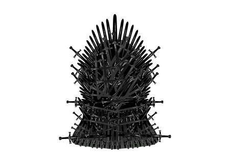 Illustration pour Iron throne icon. Vector illustration isolated or white background - image libre de droit