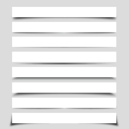 Illustration for Collection of Vector Shadows With Boxes - Royalty Free Image