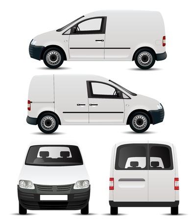 Foto de White Commercial Vehicle Mockup - Imagen libre de derechos