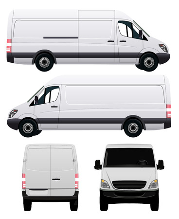 Illustration for White Commercial Vehicle - Van No 2 - Royalty Free Image