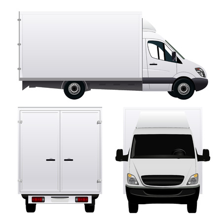 Illustration pour Cargo Van - Truck - image libre de droit