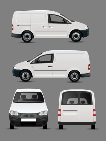 Photo for White Vector Van - Royalty Free Image