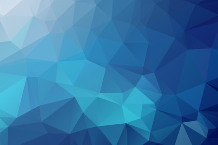 Illustration for Blue Triangular Background - Royalty Free Image