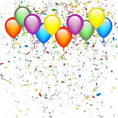 Illustration pour Birthday Balloons - image libre de droit