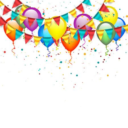 Illustration pour Balloons with Garlands - image libre de droit