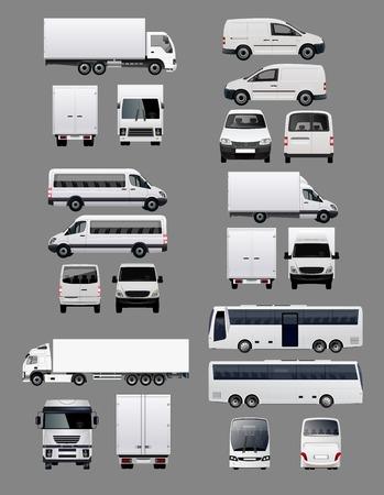 Illustration pour Set of Transportation Vehicles 1 - image libre de droit