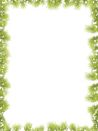 Illustration pour Christmas Fir Tree Borders - image libre de droit