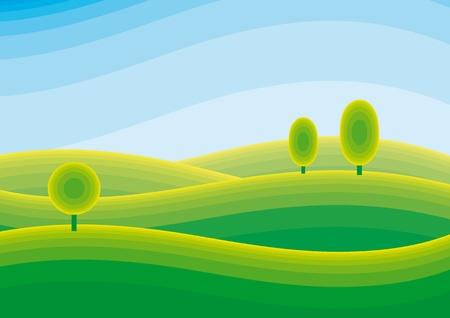 Illustration pour landscape - image libre de droit