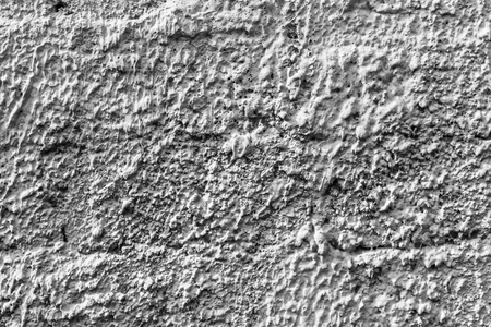 Photo pour White concrete wall with natural texture and cracks on the surface as background. - image libre de droit