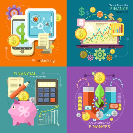 Illustration pour Internet online banking. Accumulation of finances concept of a magnet attracting golden coins - image libre de droit