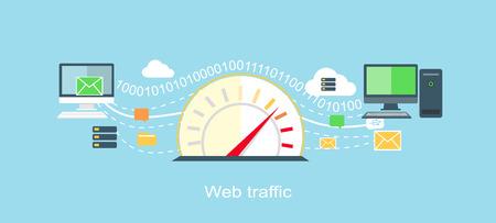 Ilustración de Web traffic internet icon flat isolated.  - Imagen libre de derechos