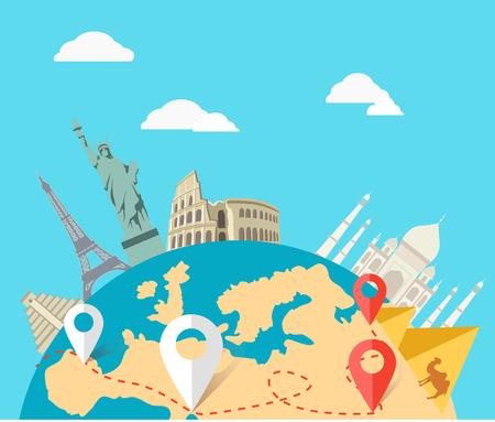 Illustration pour World adventure travel.  - image libre de droit
