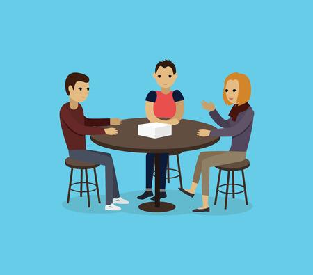 Illustration pour Focus group target audience at aim. - image libre de droit