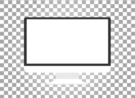 Illustration pour Computer monitor isolated. Computer monitor display. Computer display isolated. Black screen. lcd tv monitor isolated. Icon of monitor. Computer monitor icon. Flat monitor. Vector computer monitor - image libre de droit