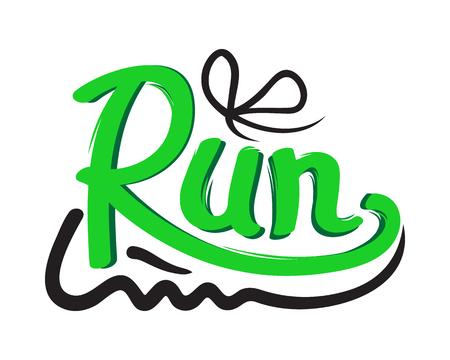 Ilustración de Running Shoe Symbol on White Background. Trainers - Imagen libre de derechos