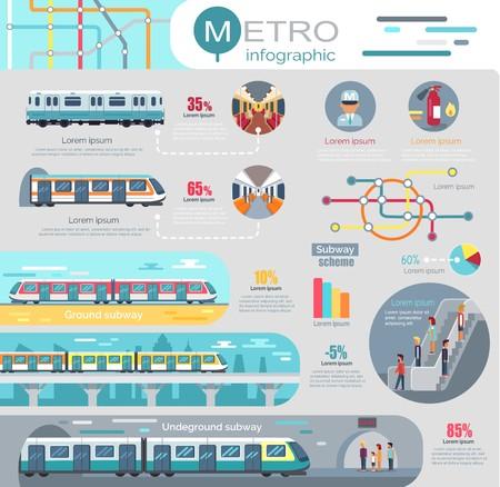 Ilustración de Metro Infographic with Statistics and Schemes - Imagen libre de derechos