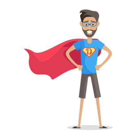 Ilustración de Superhero Daddy in Superhero Costume - Imagen libre de derechos