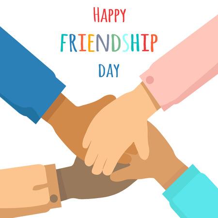 Ilustración de Happy Friendship Day Flat Vector Concept - Imagen libre de derechos